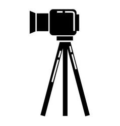 video camera on stand icon simple style vector image