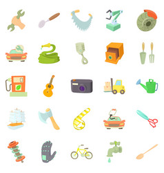 Weaver icons set cartoon style vector