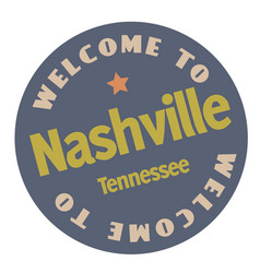Welcome to nashville tennessee vector