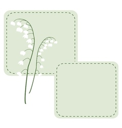 White may-lily flowers of the valley background vector image