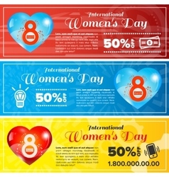 Women day banners set vector