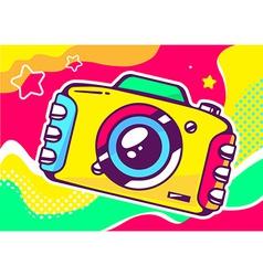 yellow photo camera vector image