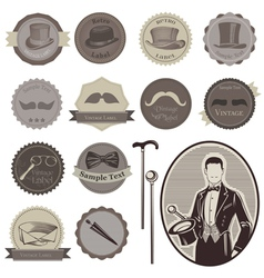 Gentlemens Accessories Labels vector image
