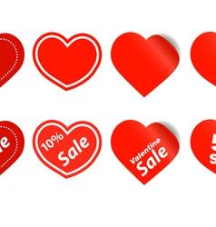 Happy valentine sale stickers vector image