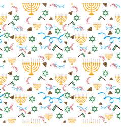 purim holiday background with festive symbols vector image