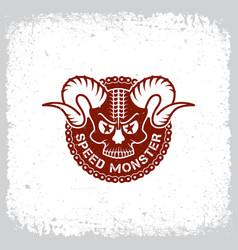 speed monster vector image vector image