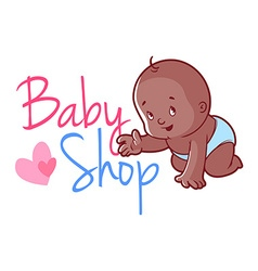 Baby shop logo vector image