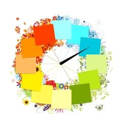 Design of clock Four seasons concept vector image vector image