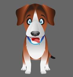 dog beagle facing forward vector image vector image
