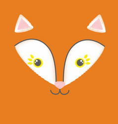 embroidery of red toy fox vector image
