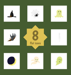 flat icon celebrate set of phantom ghost spinner vector image vector image