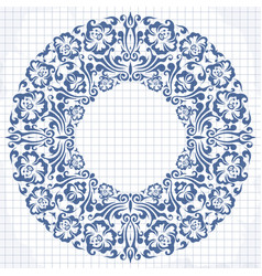 round frame with decorative elements vector image
