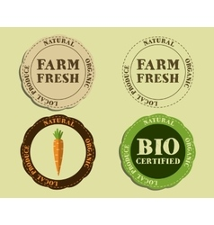 Stylish Farm Fresh logo and badge templates with vector image