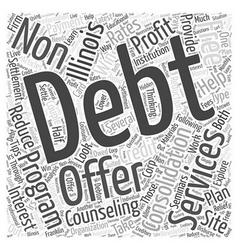 tell me about consolidation debt in illinois Word vector image vector image