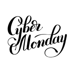 Cyber monday black and white promotional banner vector