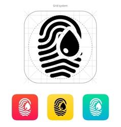 Damage fingerprint icon vector image