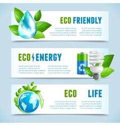 Ecology horizontal banners vector image
