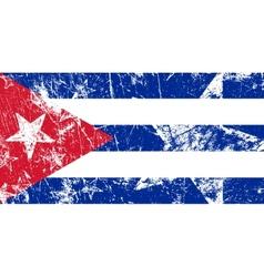 Grunge Cuban flag Artwork vector image