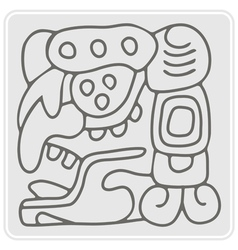 monochrome icon with American Indians relics vector image vector image