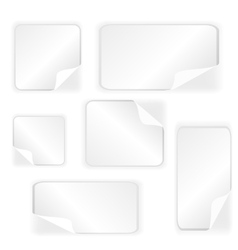Paper Stickers Collection vector image