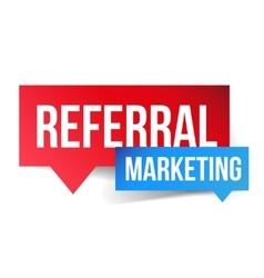 Referral marketing speech bubble vector