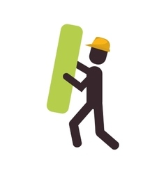 construction man element work vector image