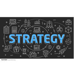 lines template strategy vector image vector image