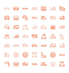 49 automobile icons vector image