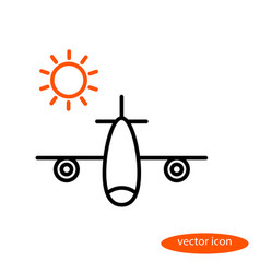 A simple image of an airplane carrying vector