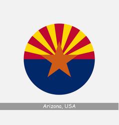Arizona round flag vector