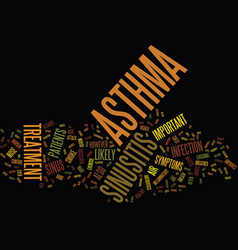 Asthma and sinusitis awareness text background vector