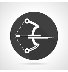 Ball crossbow black round icon vector