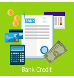 Bank Credit Concept Design Style vector image vector image
