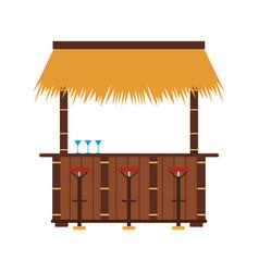 Bar beach kiosk vector