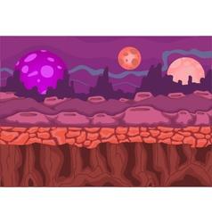 beautiful panorama cartoon on the planet vector image