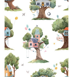 Beautiful seamless pattern with cute vector