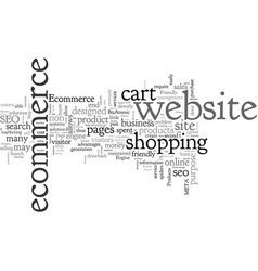 benefits of seo for ecommerce vector image