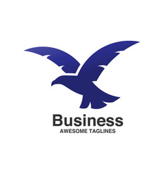 Best eagle fly logo template vector