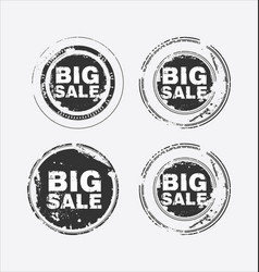 big sale stamp 3 vector image