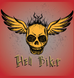 Biker emblem logo or tattoo vector