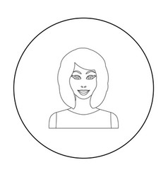 Blonde icon in outline style isolated on white vector