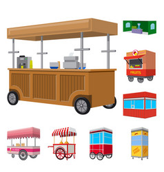 Booth and kiosk icon vector