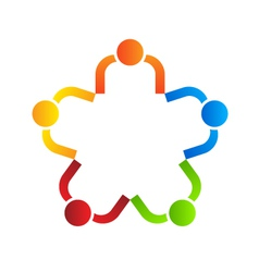 Business logo design team star 5 vector