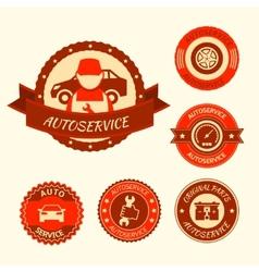 Car auto service set vector image