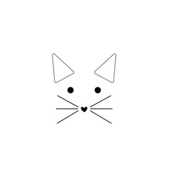Cat line icon on white background vector