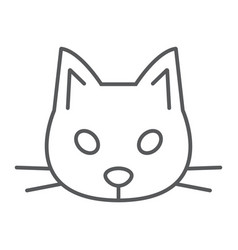 cat thin line icon animal and zoo pet sign vector image