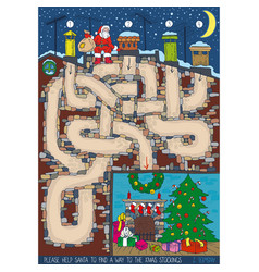 christmas maze game vector image
