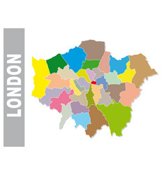 colorful london administrative and political map vector image