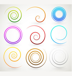 Colorful spirals twirls vector