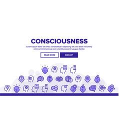 Consciousness landing header vector